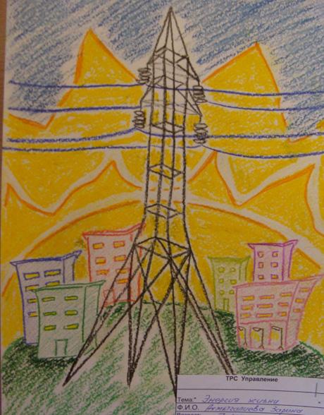 Рисунки к конкурсу энергетика