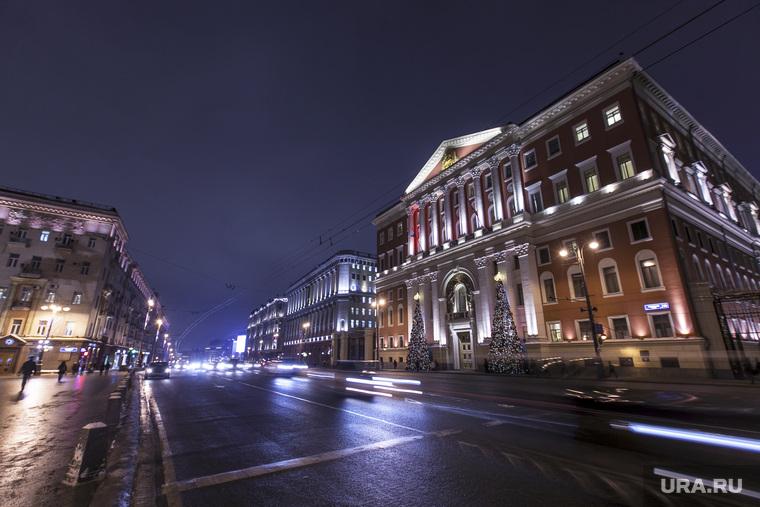 Москва, разное., мэрия, вечерняя москва, тверская