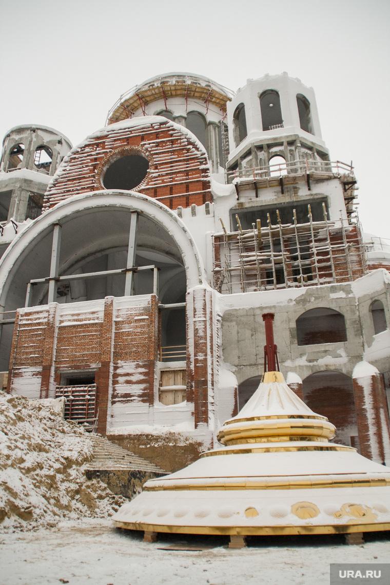 Освещение куполов, храм салехард