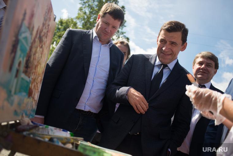 Рабочий визит ВРИО губернатора Свердловской области в Краснотурьинск, куйвашев евгений, бидонько сергей