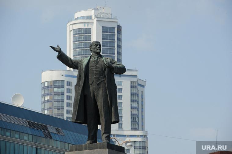 Виды Екатеринбурга, памятник ленину, жк февральская революция