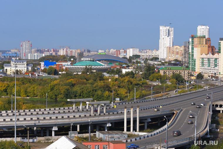 Виды города. Челябинск, челябинск, развязка на кашириных