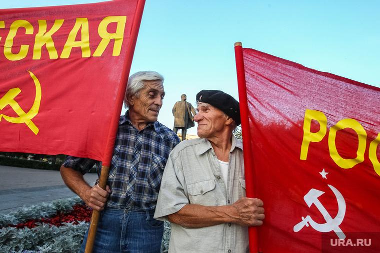 Митинг против повышения цен на проезд в общественном транспорте, устроенный РКРП. Тюмень, коммунисты, ркрп, митинг