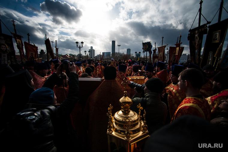 Пасхальный крестный ход в Екатеринбурге, иконы, крестный ход, екатеринбург сити