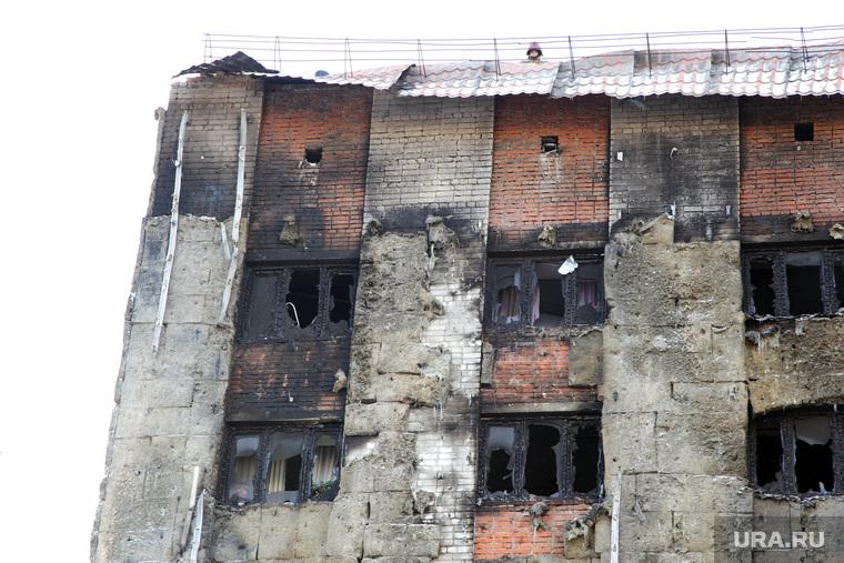 Последствия пожара в общежитие. Олимпийская, 4. Тюмень., пожар, дом после пожара, олимпийская улица, улица олимпийская4