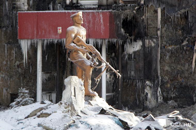 Последствия пожара в общежитие. Олимпийская, 4. Тюмень., пожар, олимпийская улица