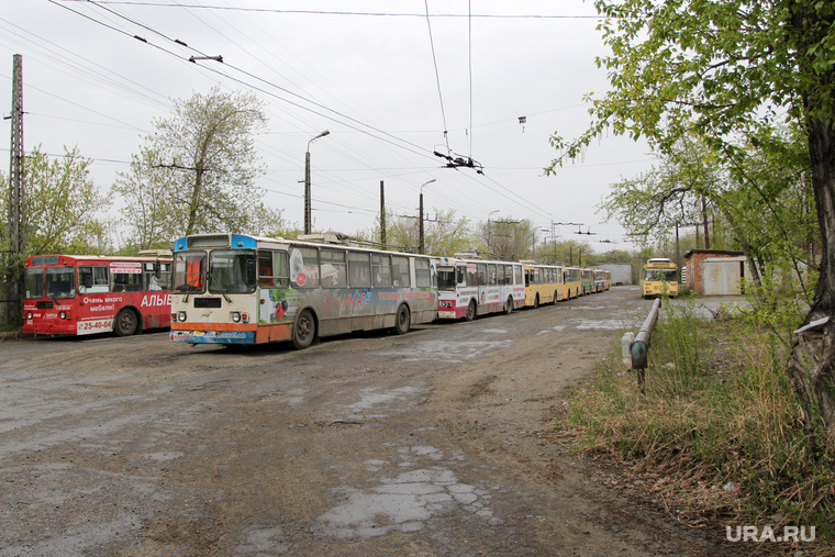 Троллейбусный парк Курган, троллейбусный парк