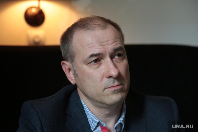 Предприниматель Константин Окунев во время интервью. Пермь  , Окунев Константин