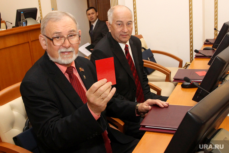 Вручение депутатских мандатов в облдуме  Курган, кислицын василий, евгенов иван