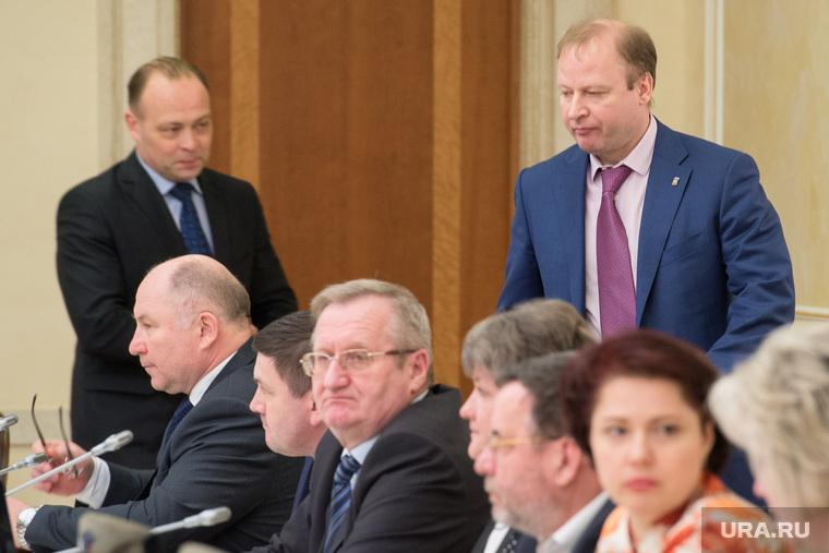 Встреча губернатора с победителями выборов в гордуму Режа. Екатеринбург, шептий виктор, пересторонин сергей, чайников валерий
