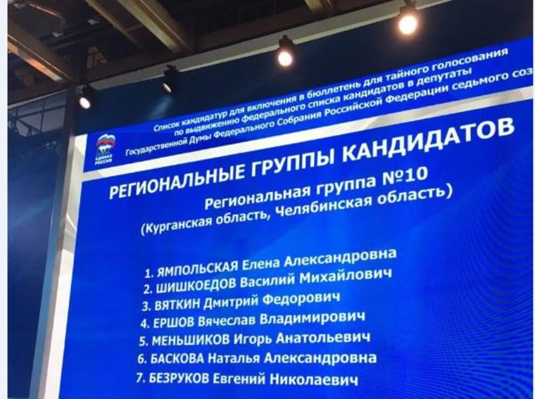 """Челябинск на съезде """"Единой России"""", монитор, списки выборы"""