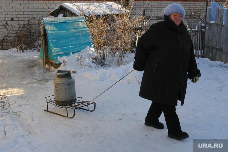 Клипарт. ЖКХ. Челябинск., колодец, вода, водоснабжение, санки, фляга