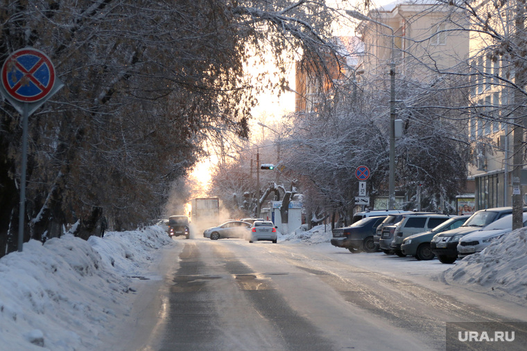 Морозное утро.Курган, зима, мороз, курган, холод
