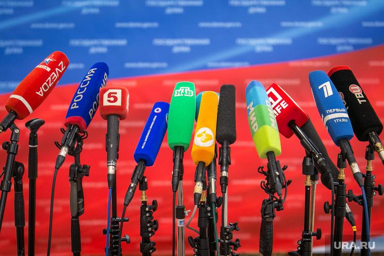 Выборы омбудсмена. Госдума. Москва, микрофоны