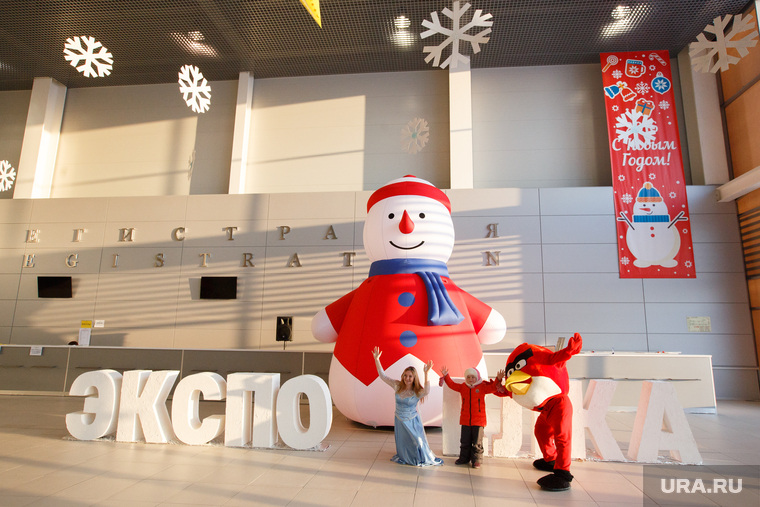 Экспо-Елка - 2016. Екатеринбург, снеговик, экспо елка