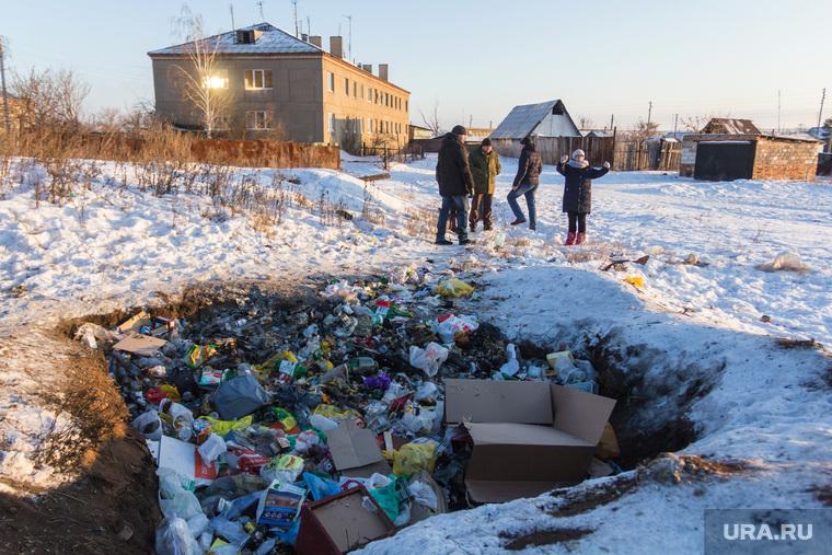 Поселок Новоянгелька. (Агаповский район). Челябинская область, мусор, яма, свалка, деревенская жизнь, зима