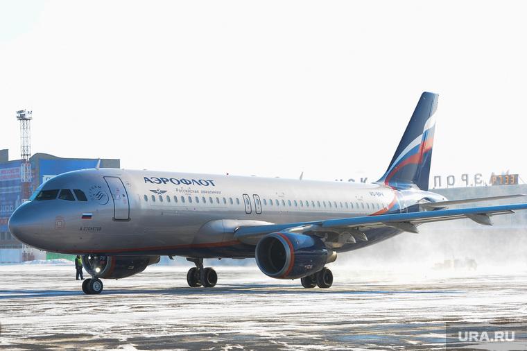 Аэропорт. Самолет. Челябинск., самолет, боинг, аэрофлот