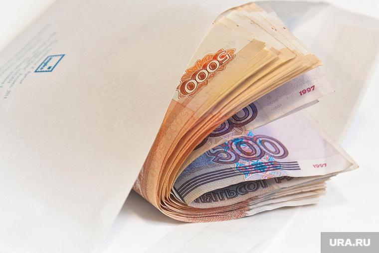 Клипарт, взятка, зарплата, денежные купюры, конверт