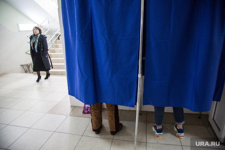 Предварительное голосование за кандидатов Единой России в городскую думу. Тюмень, кабинка для голосования, избиратели