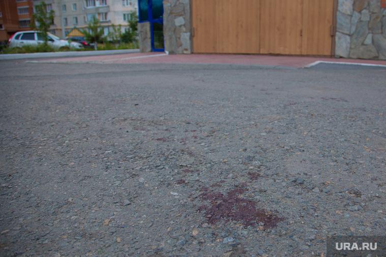 """Стрельба в кафе """"Ассоль"""". Курган, кровь на асфалье"""