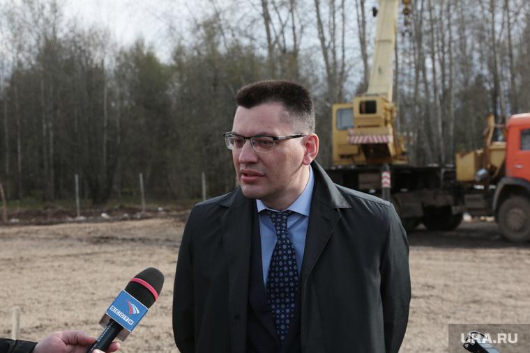Врио губернатора Пермского края Максим Решетников проинспектировал начало строительства нового зоопарка в Перми, сюткин михаил