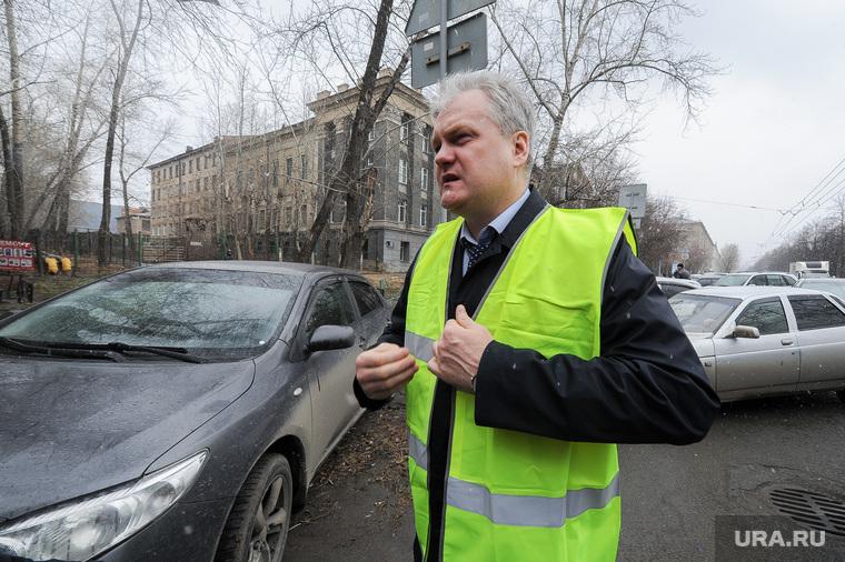 Выезд рабочей группы по дорогам города с Дмитрием Микуликом. Челябинск, микулик дмитрий