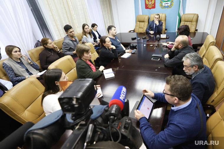 Встреча врио губернатора Курганской области со СМИ, сми, шумков вадим