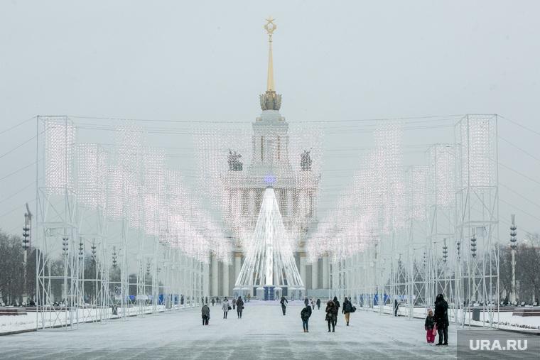 Елка на ВДНХ. Москва, вднх, зима, новогодняя елка, центральный павильон, павильон №1