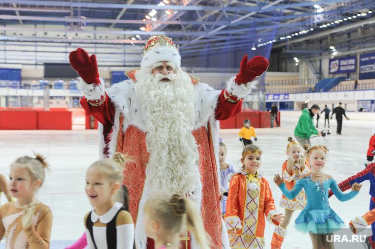 Пресс-конференция по случаю приезда Деда Мороза из Великого Устюга. Челябинск, дед мороз