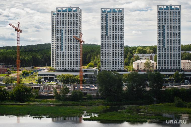 Виды Екатеринбурга , недвижимость, квартиры, башенный кран, жилой квартал, жилье