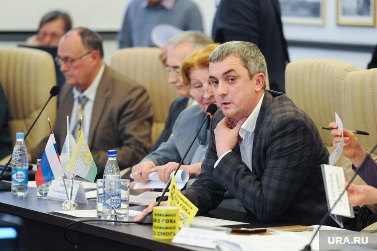 Заседание  рабочей группы Общественной палаты по  вопросу строительства Томинского ГОК. Челябинск, казанцев владимир