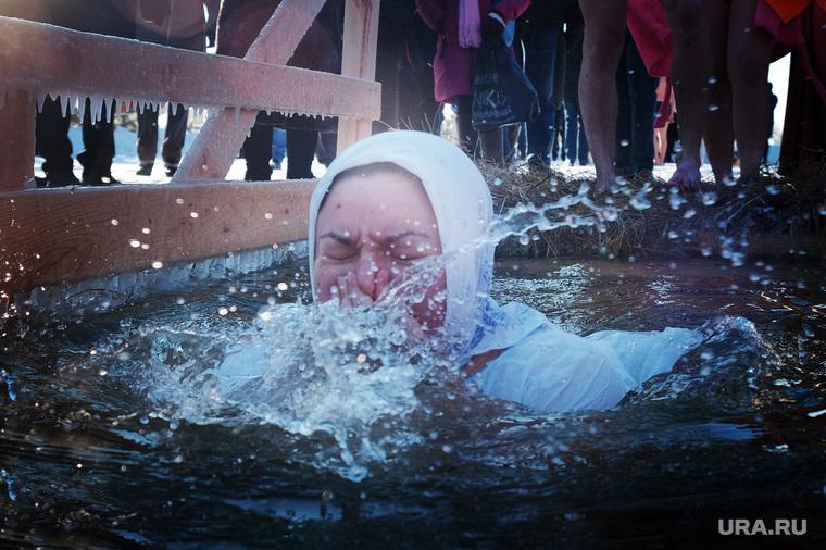 Крещенские купания. Курган, крещенские купания