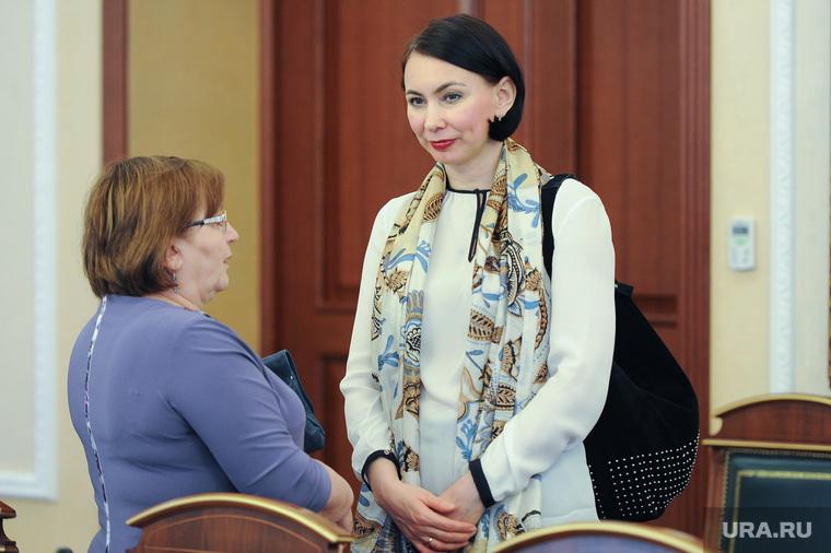 Прием женщин, в преддверии праздника 8 марта, губернатором Челябинской области Борисом Дубровским. Челябинск, циринг диана