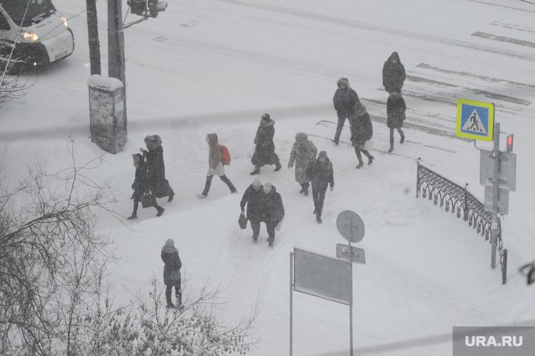 Снегопад. Челябинск, снегопад, буран, метель, зима, климат, погода