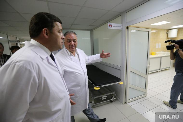 Евгений Куйвашев в Кардиоцентре Яна Габинского.Екатеринбург