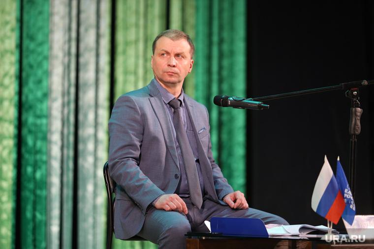 Конференция партии Единая Россия по вопросам участия в выборах депутатов городской думы.  Курган
