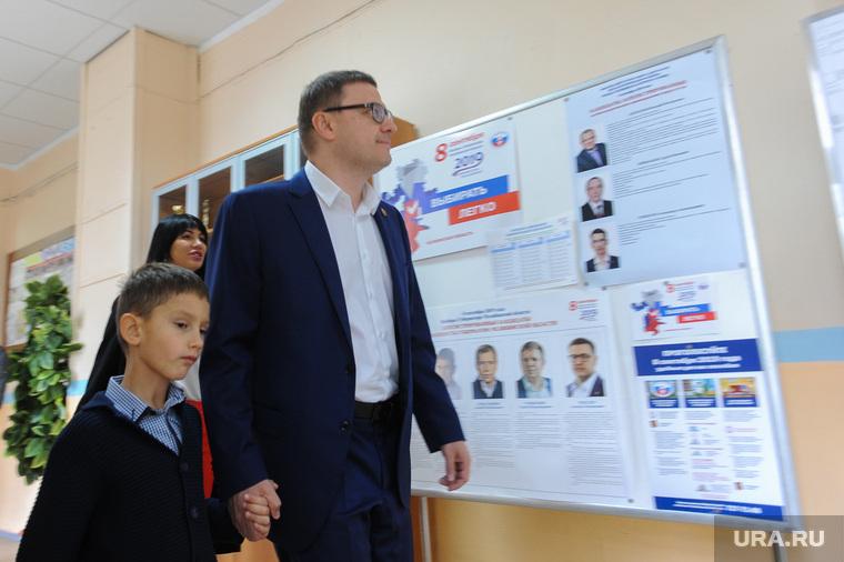 Алексей Текслер на участке для голосования на Едином дне голосования 2019. Челябинск