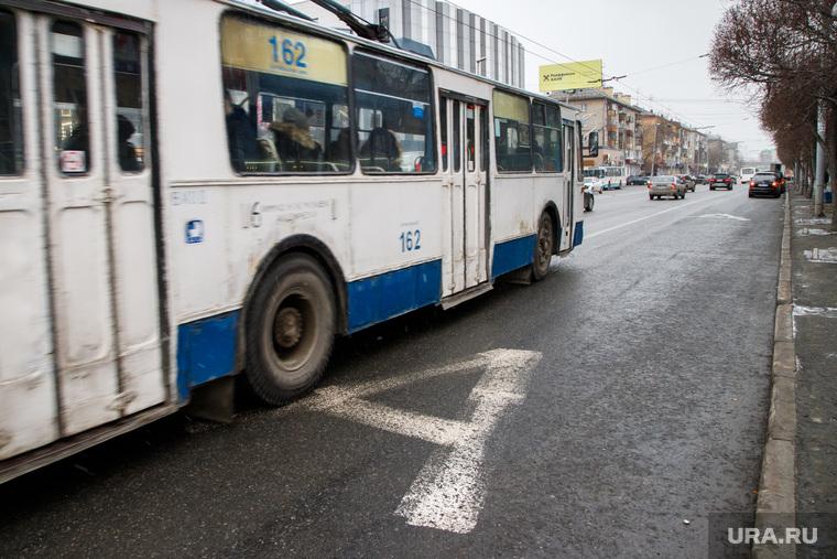 Выделеная полоса общественного транспорта на Малышева. Екатеринбург
