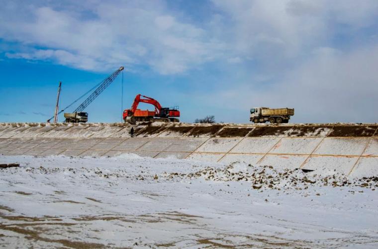"""Процесс строительства моста """"Благовещенск - Хэйхэ"""", который реализует СК Мост Руслана Байсарова"""