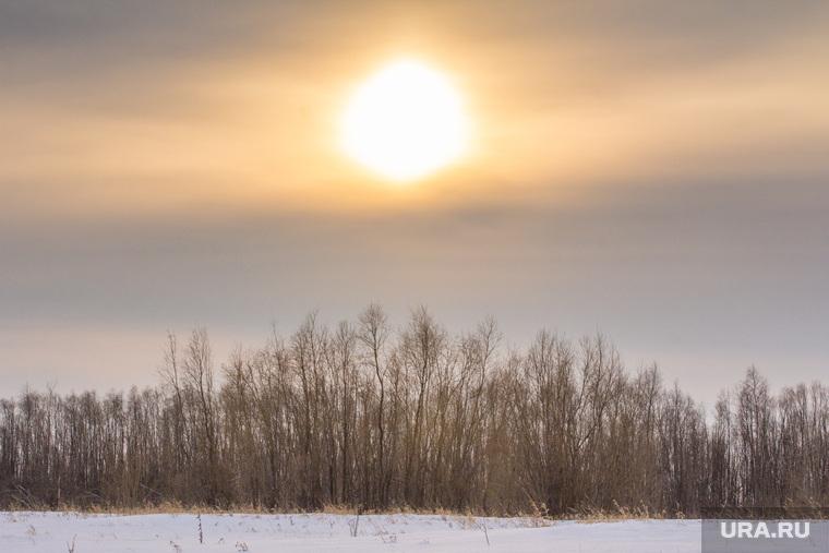 Деревня Ярки, зимник. Ханты-Мансийский район