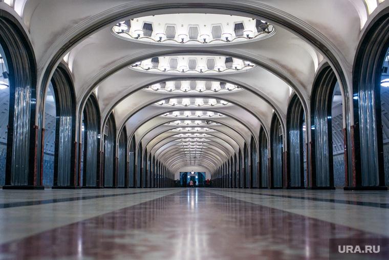 Станция «Маяковская» Московского метрополитена. Москва
