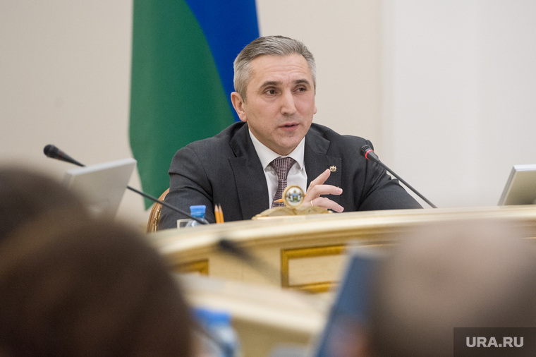 Пресс-кнференция губернатора тюменской области  Александра Моора. Тюмень
