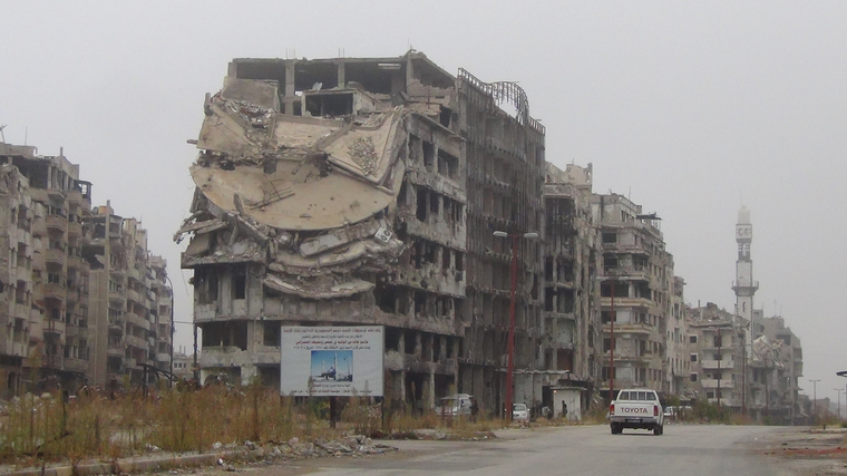 Волонтер Евгений Ганеев в Сирии
