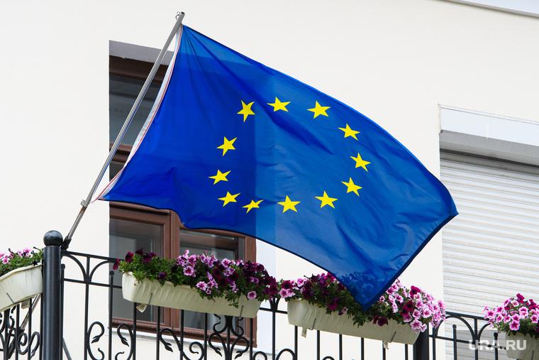 Флаг Евросоюза. Екатеринбург