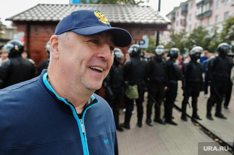 Несанкционированный митинг сторонников Навального против пенсионной реформы. Челябинск