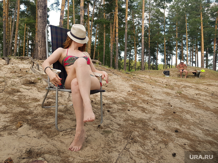 """Пляж """"Голубые озера"""". Курган"""