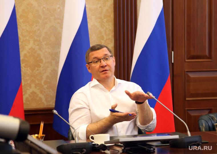 Министр строительства и жилищно-коммунального хозяйства Российской Федерации Владимир Якушев в правительстве Тюменской области. Тюмень