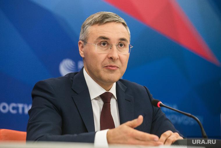 Пресс-конференция министра образования Российской Федерации Валерия Фалькова. Москва