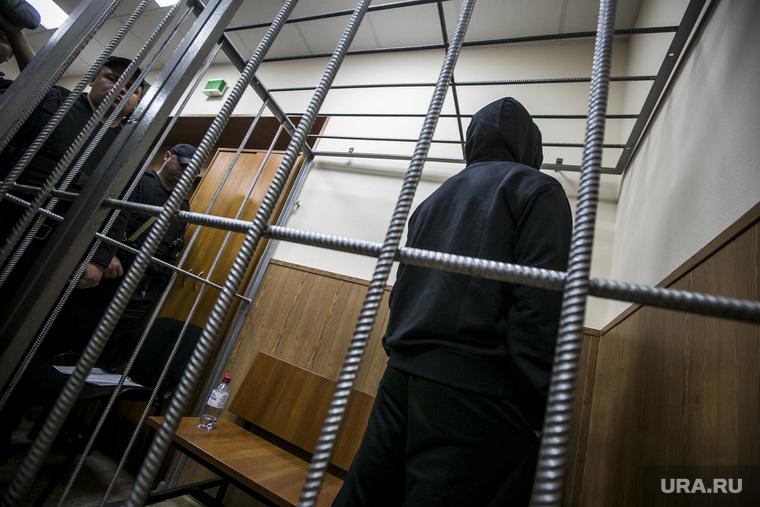 Криминальный авторитет Олег Шишканов на судебном заседании по избранию ему меры пресечения Басманным районным судом г. Москвы. Москва