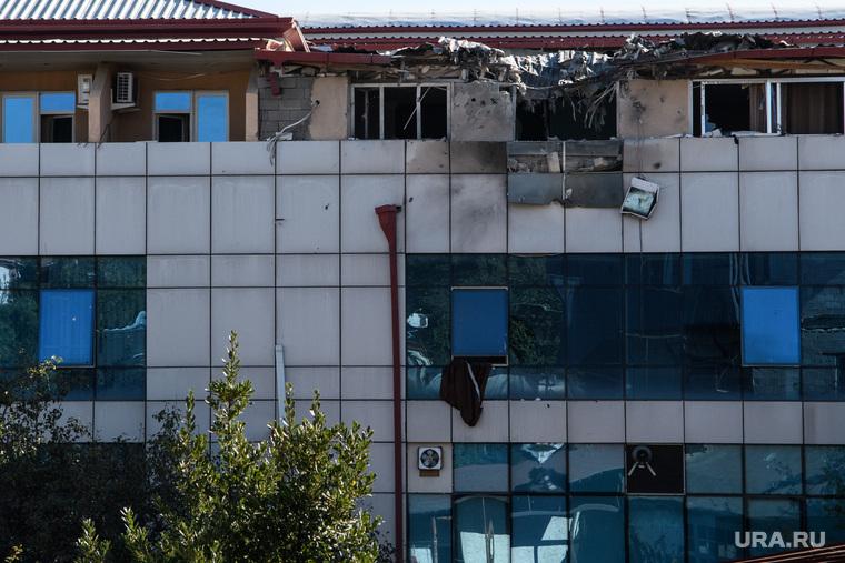 Последствия ночного обстрела Степанакерта. Нагорный Карабах